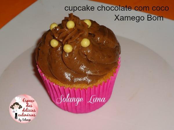 Cupcake chocolate com coco Xamego Bom