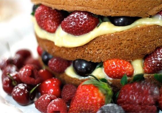 PAP - como fazer um Naked Cake ou Bolo Rústico / Bolo Pelado