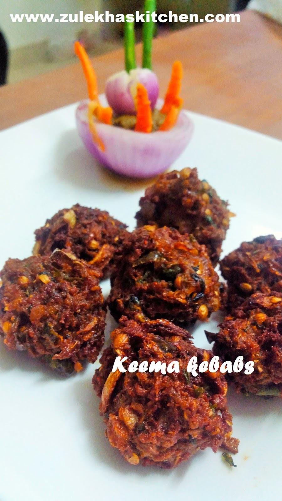 Kache keema kebabs | minced mutton kebabs