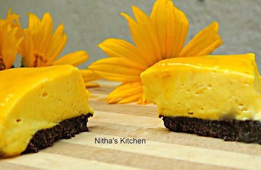 Eggless | No Bake Mango Cheese Cake