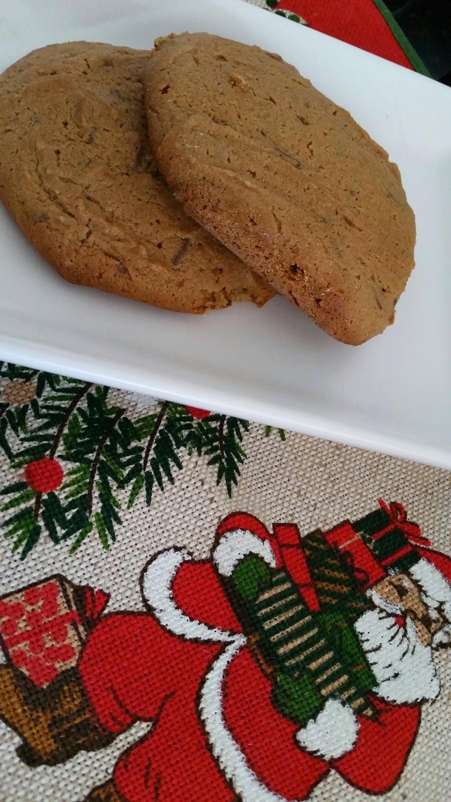 Cookies de Doce de Leite e Amendoim