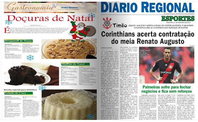 Receita para o Jornal Diario Regional - 21/12/2012