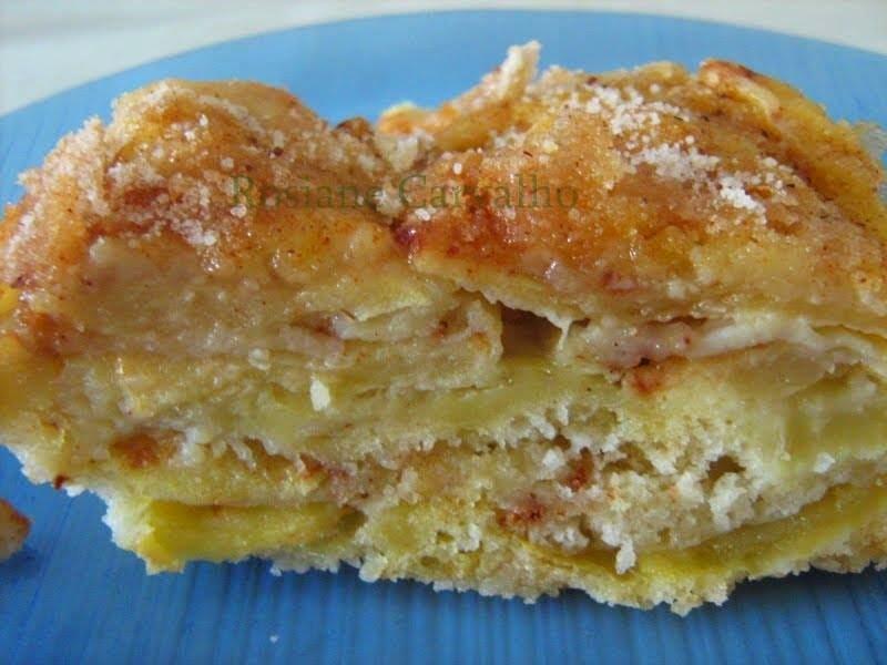 Torta de maçã em camadas