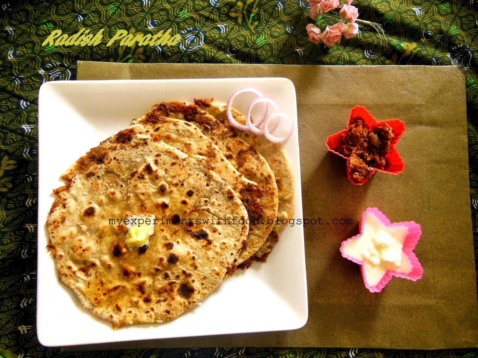 Radish Paratha / Mooli ke Parathe