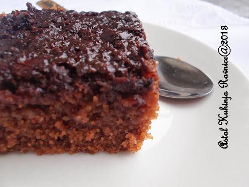 kolač čokolada jabuke griz