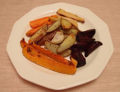 Jamieho pečená zelenina ako príloha k imaginárnemu moriakovi