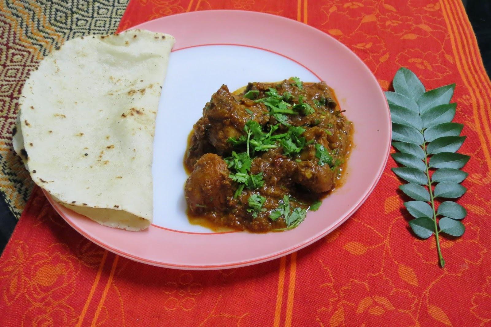 Chicken Sukka - Dry Spicy Chicken with Coconut (Tulu Style)