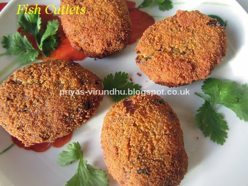 Fish Cutlets/Fish Ptties/Fish Cakes
