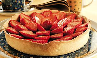 Torta de morango com geleia Light