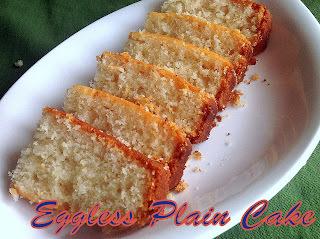 Plain Cake (Egg less) ~ Christmas Special