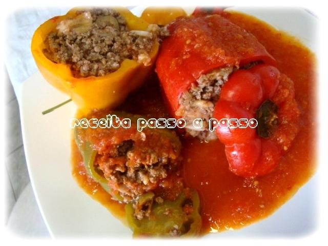 Pimentões Recheados / Stuffed Peppers