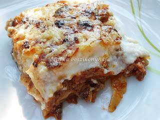 Padlizsános lasagne