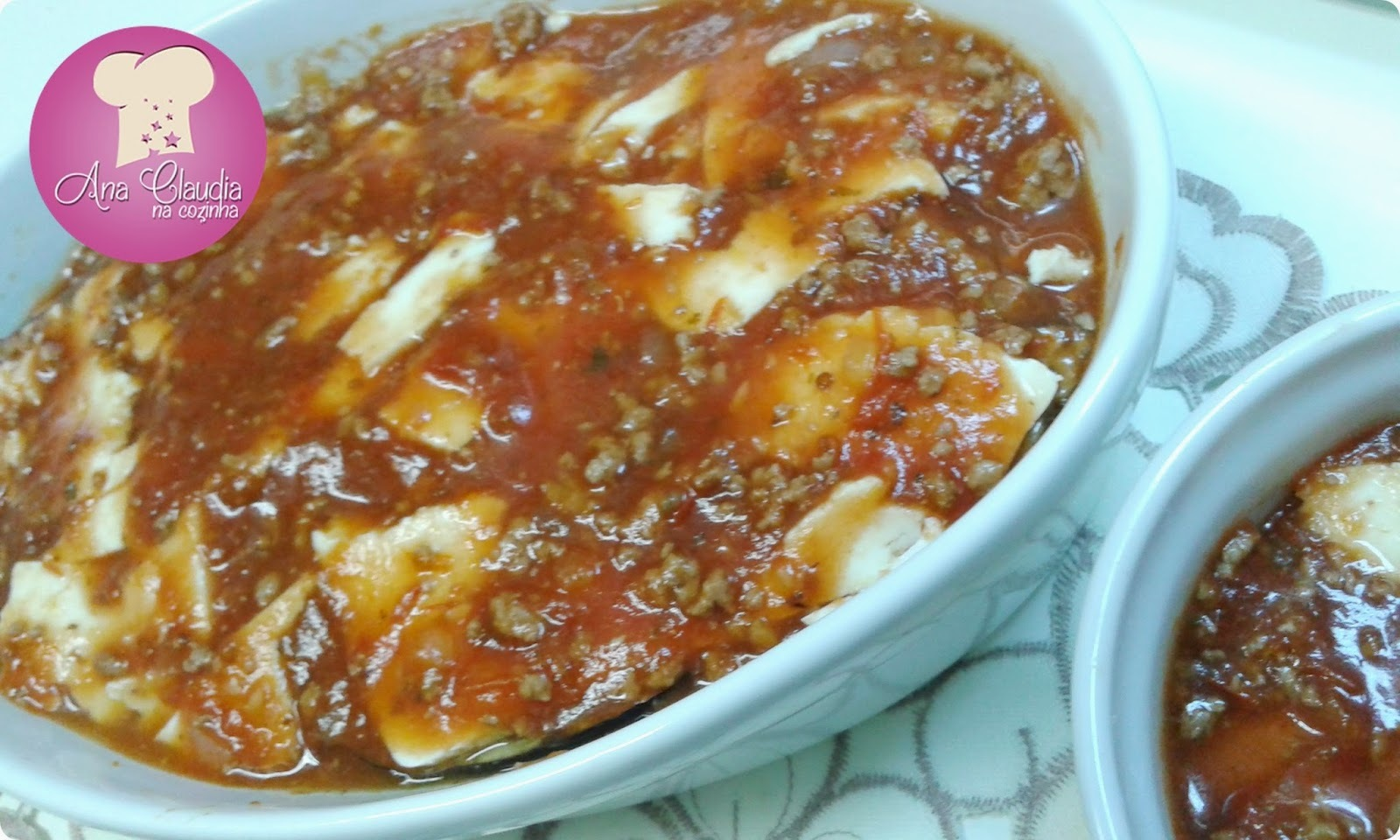 berinjela a parmegiana com carne moida