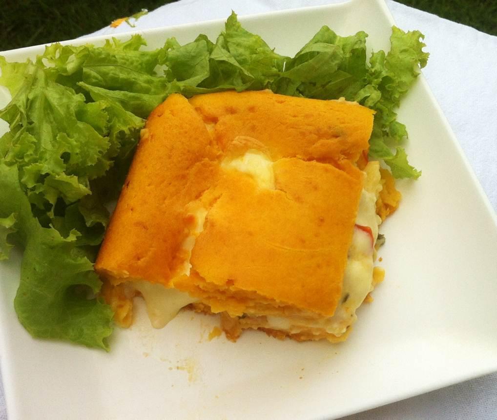 Torta Cremosa de Abóbora com Queijo e Requeijão