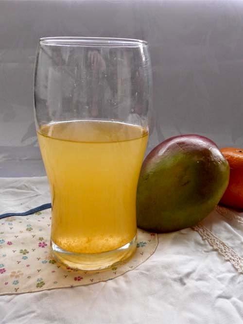 agua saborizada de mango y mandarina   el calor no se va!