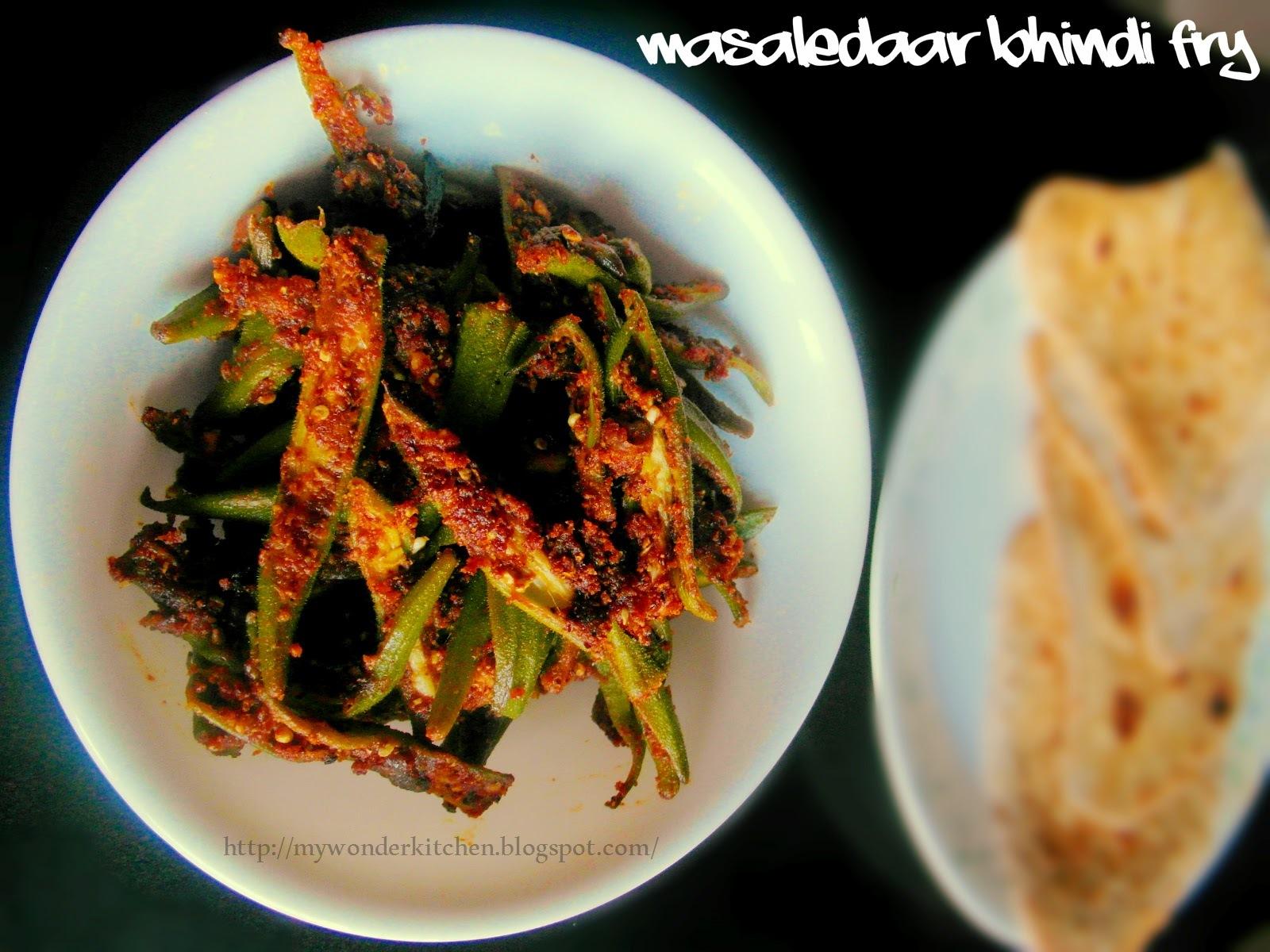 Masaledaar Bhindi (Okra) Fry |Ladysfinger stir fry in Andhra style