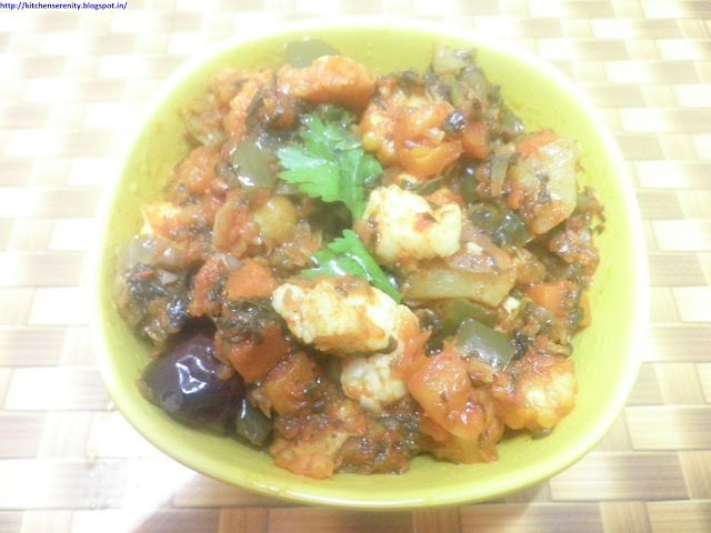 Mixed Vegetable Bhujia
