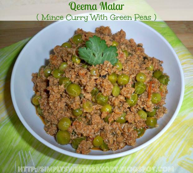 Qeema Matar ( Mince Curry With Green Peas )