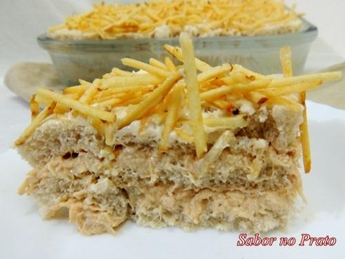 Torta Fria de Frango com Pão de Forma