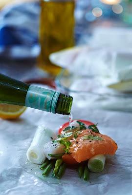 fisk i hvidvin