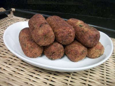 Croquete de batata e carne moida