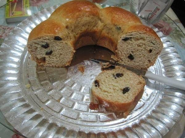 Pão Doce com Passas