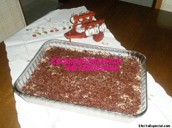 Pavê de chocolate  (receita para a 1º celebração do aniversário do Blog A Madeirense Carla Sofia.