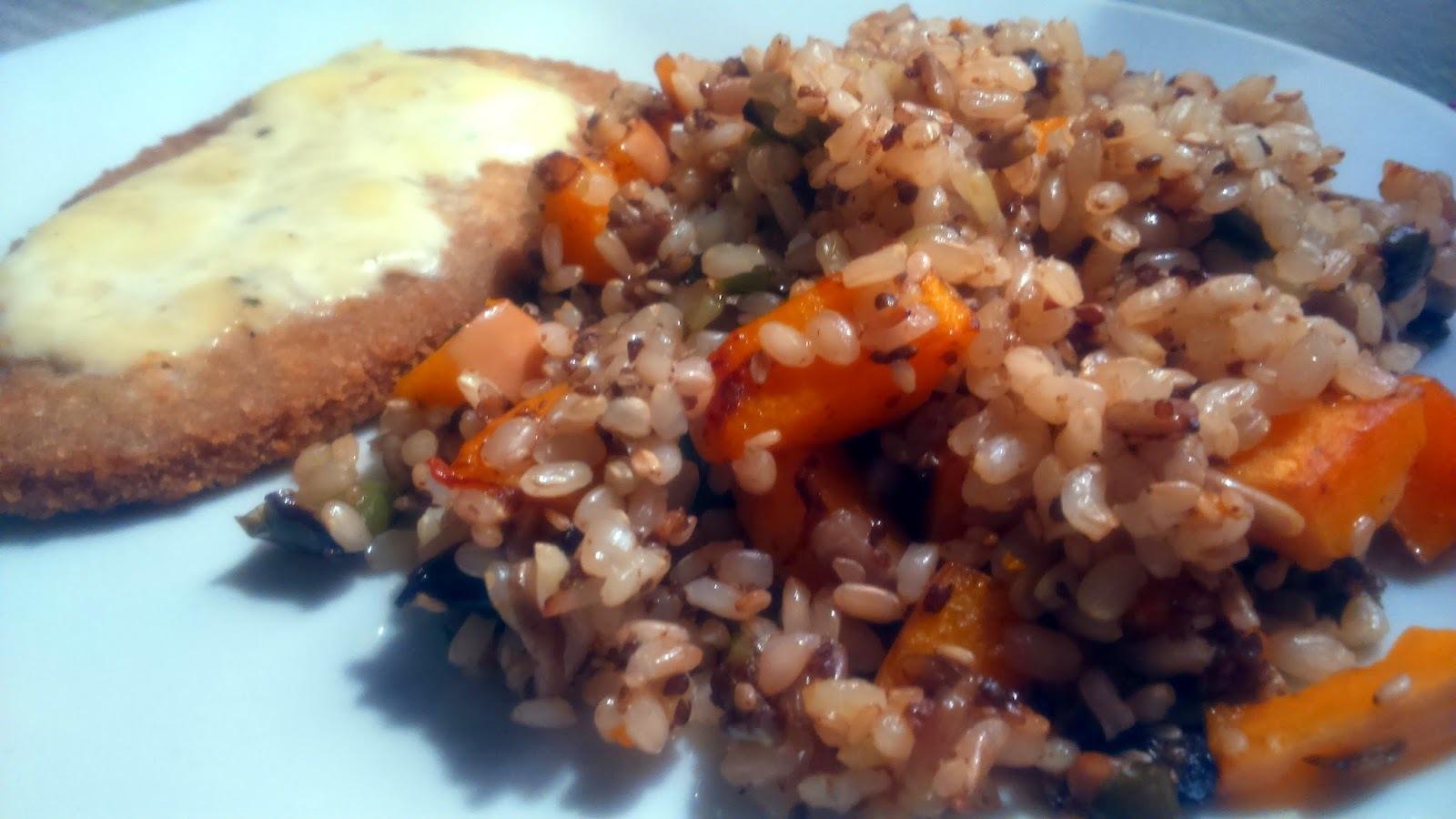 Arroz Power y Milanesa de lentejas con salsa de Queso Azul A la Paula: Cocinando con Aceite de Coco 2da parte