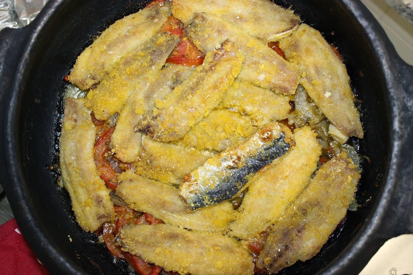 filé de sardinha assada no forno