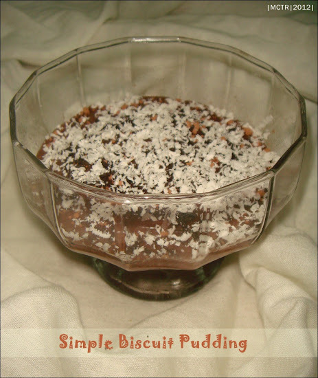 Simple 'Single Serve' Biscuit Pudding | Digestive Biscuits in a Chocolate Custard Pool
