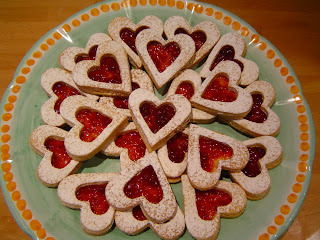 Galletas Sablees con Mermelada de Frambuesa