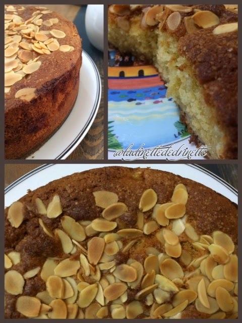 Gâteau poires amandes