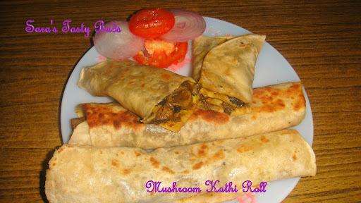 Mushroom kathi Roll