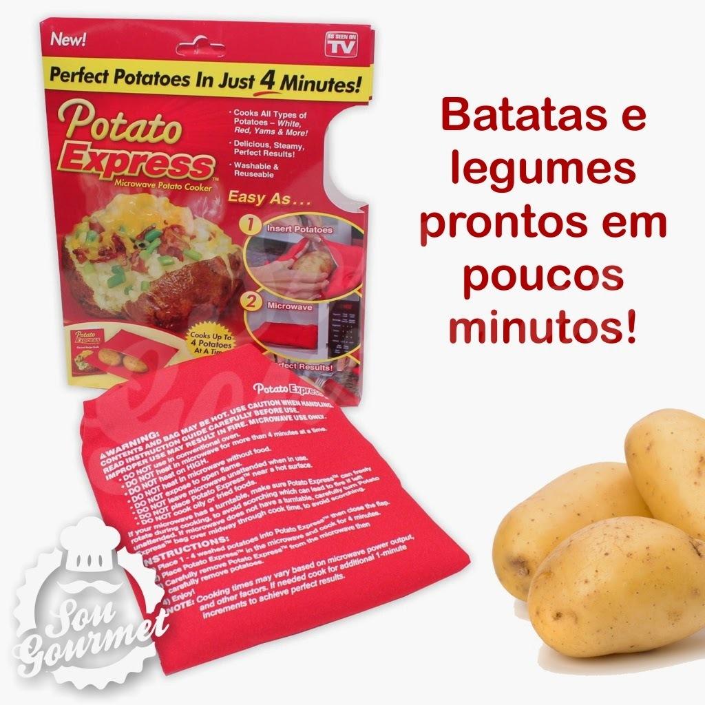 Potato Express - Batatas e legumes cozidos em poucos minutos!