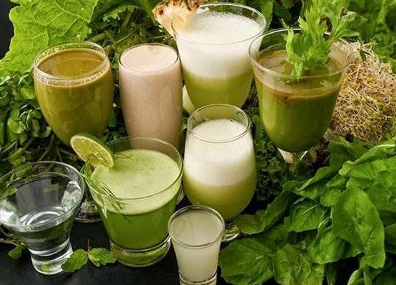 Especial Sucos verdes Detox e gelo de couve