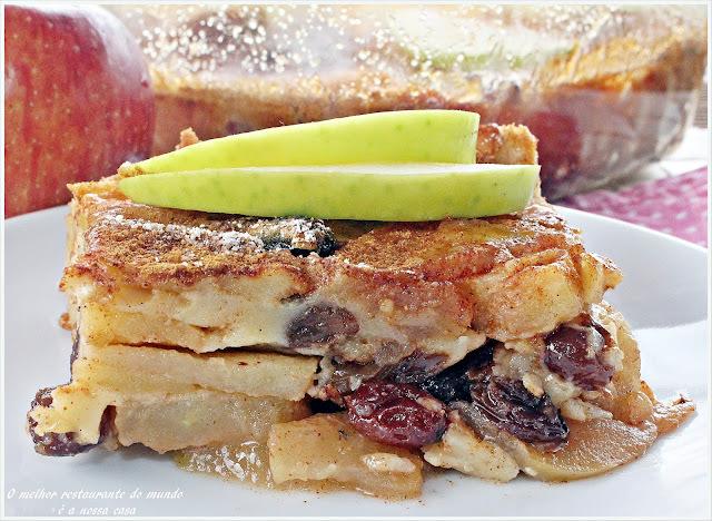Torta fácil de maçã com uvas passas e canela