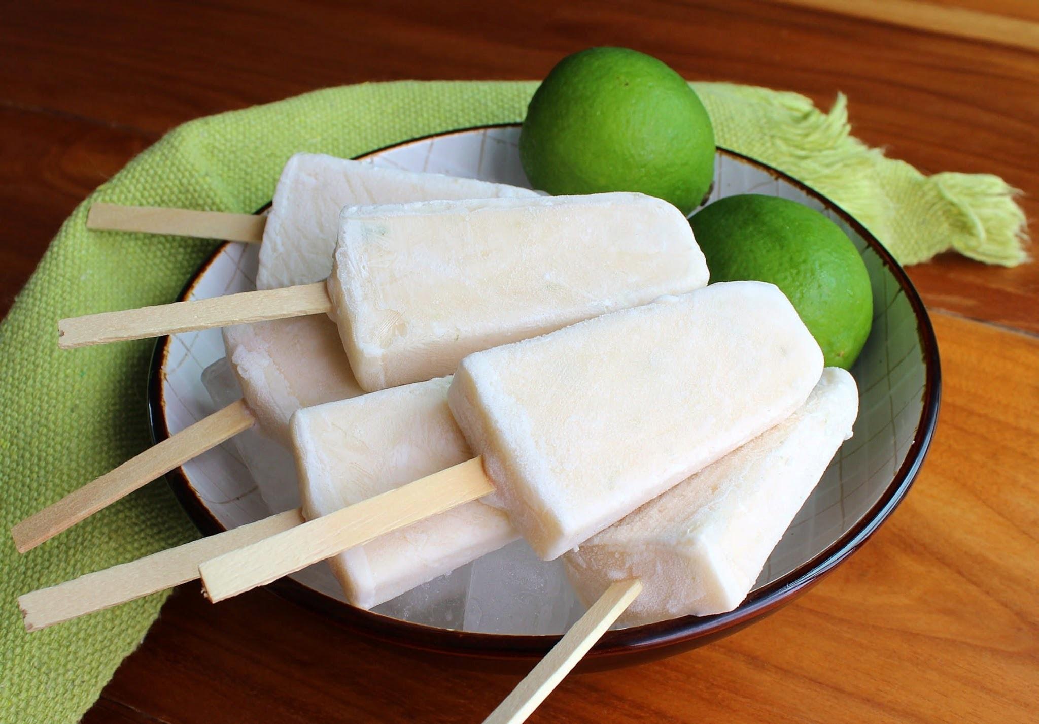 picolé de limão e coco