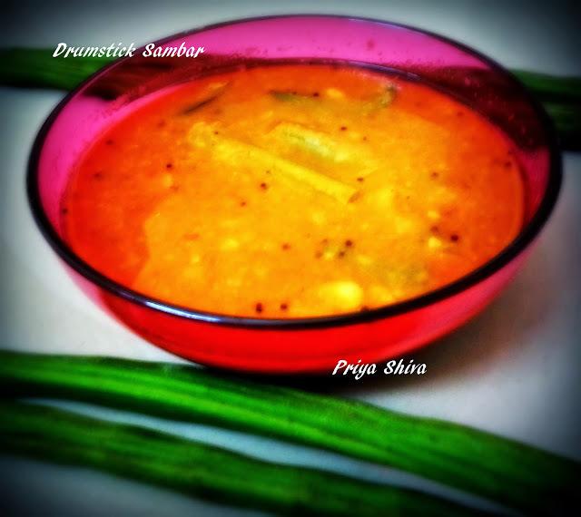 Drumstick Sambar /  Murungakkai Sambar