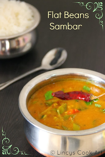 Flat Beans Sambar/ Single Vegetable Sambar/ Easy Sambar