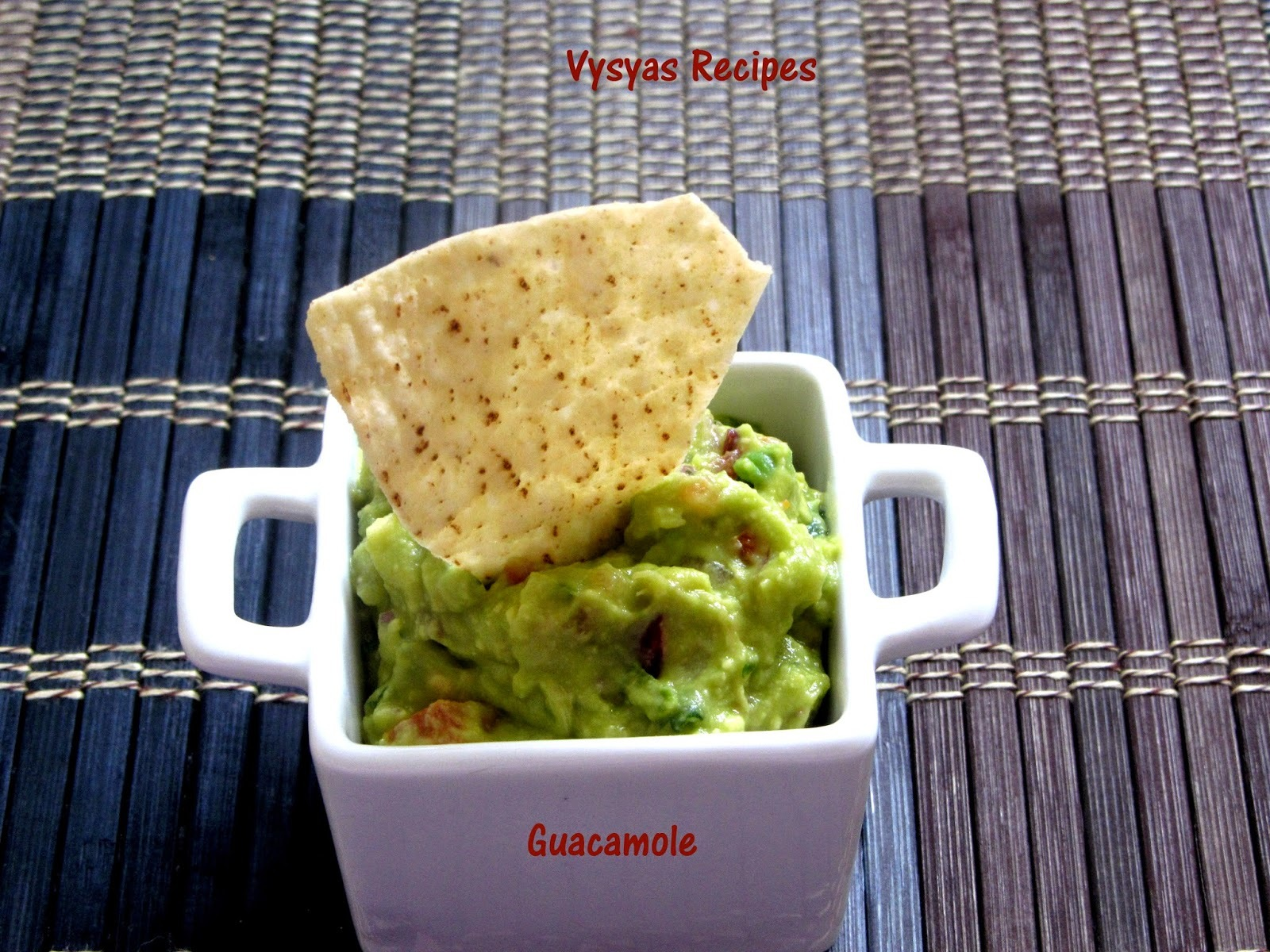 Guacamole Recipe - Mexican Avacado Dip -No Cook Recipe