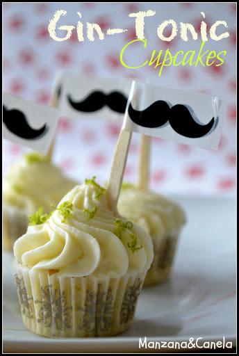Vamos a celebrar el Día del Padre: Mini cupcakes de Gin-Tónic