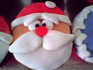 Cupcake de nozes para o Natal