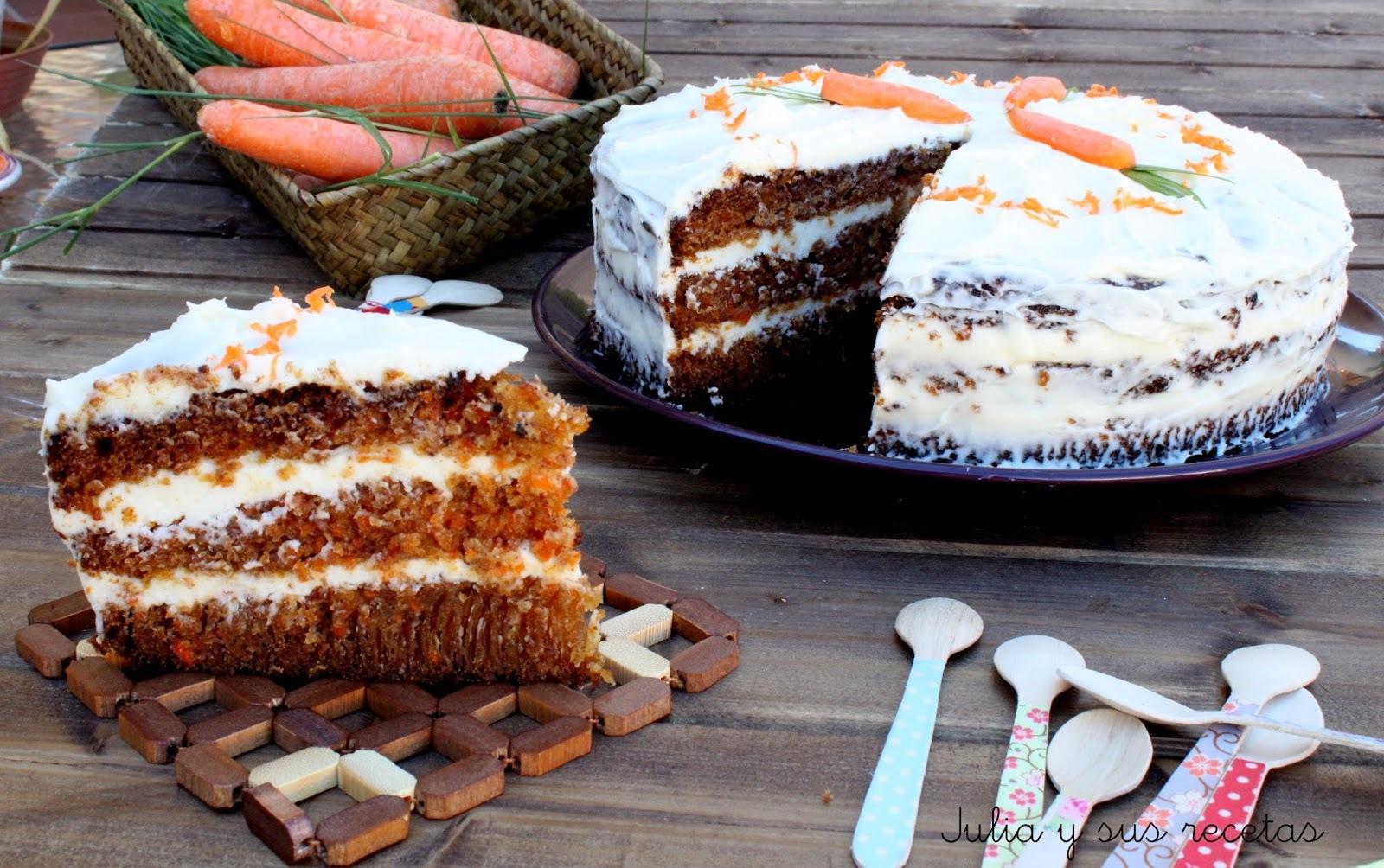 CARROT CAKE PIÑA (TARTA DE ZANAHORIA Y PIÑA)