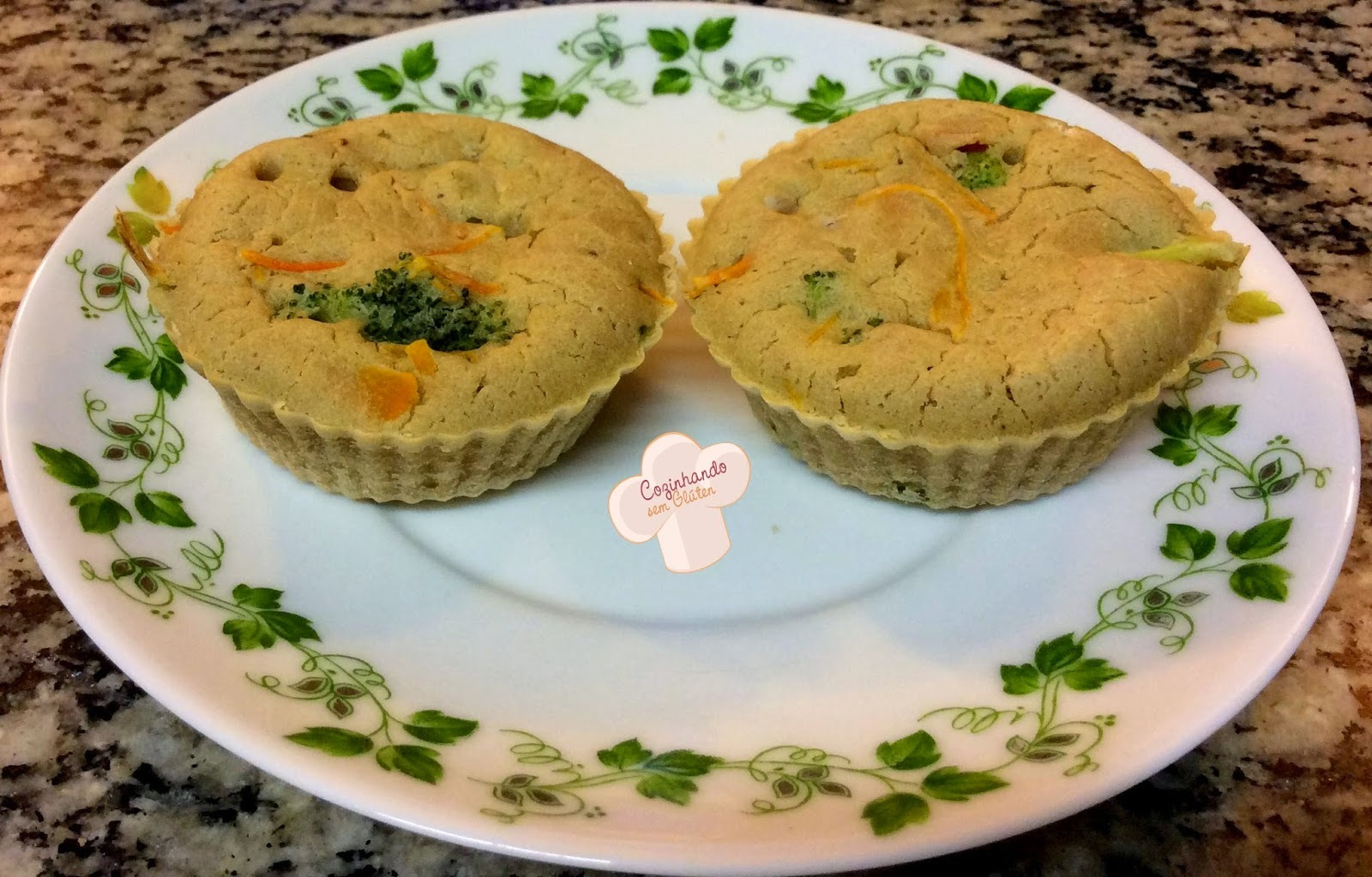 Tortinhas de legumes com biomassa de banana verde