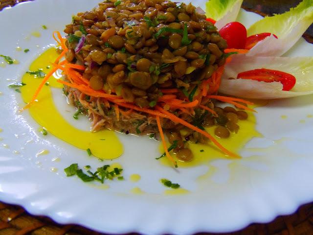 de salada de lentilha light