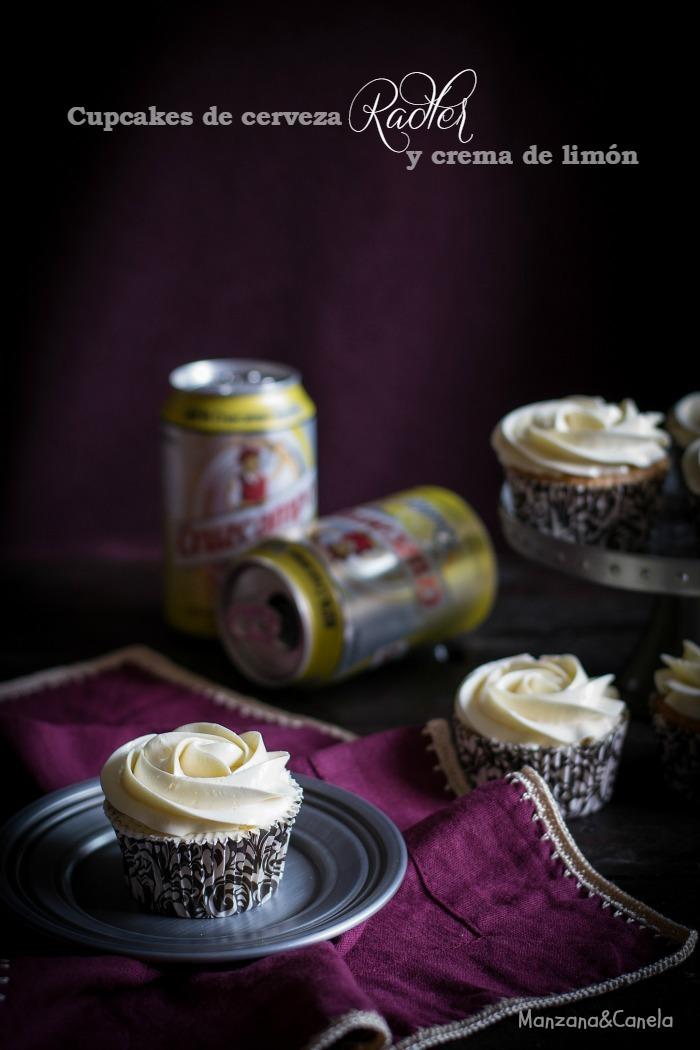 Cupcakes de cerveza Radler y crema de limón y cerveza