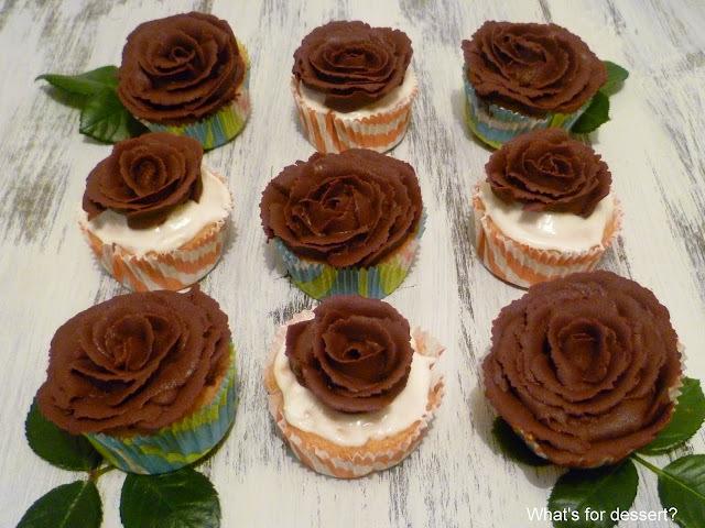 Cupcakes - ganache ruže
