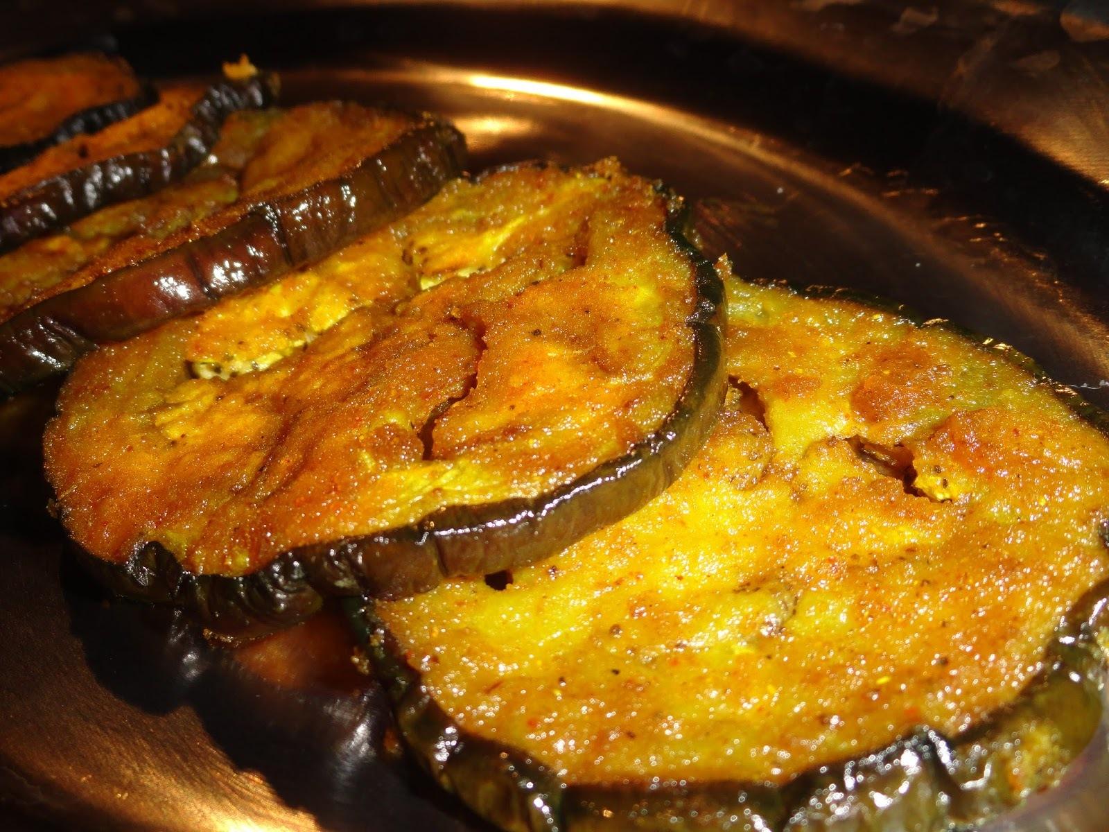 Brinjal/Eggplant/Baingan Tawa Fry