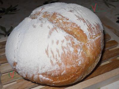 Pan con masa madre casera