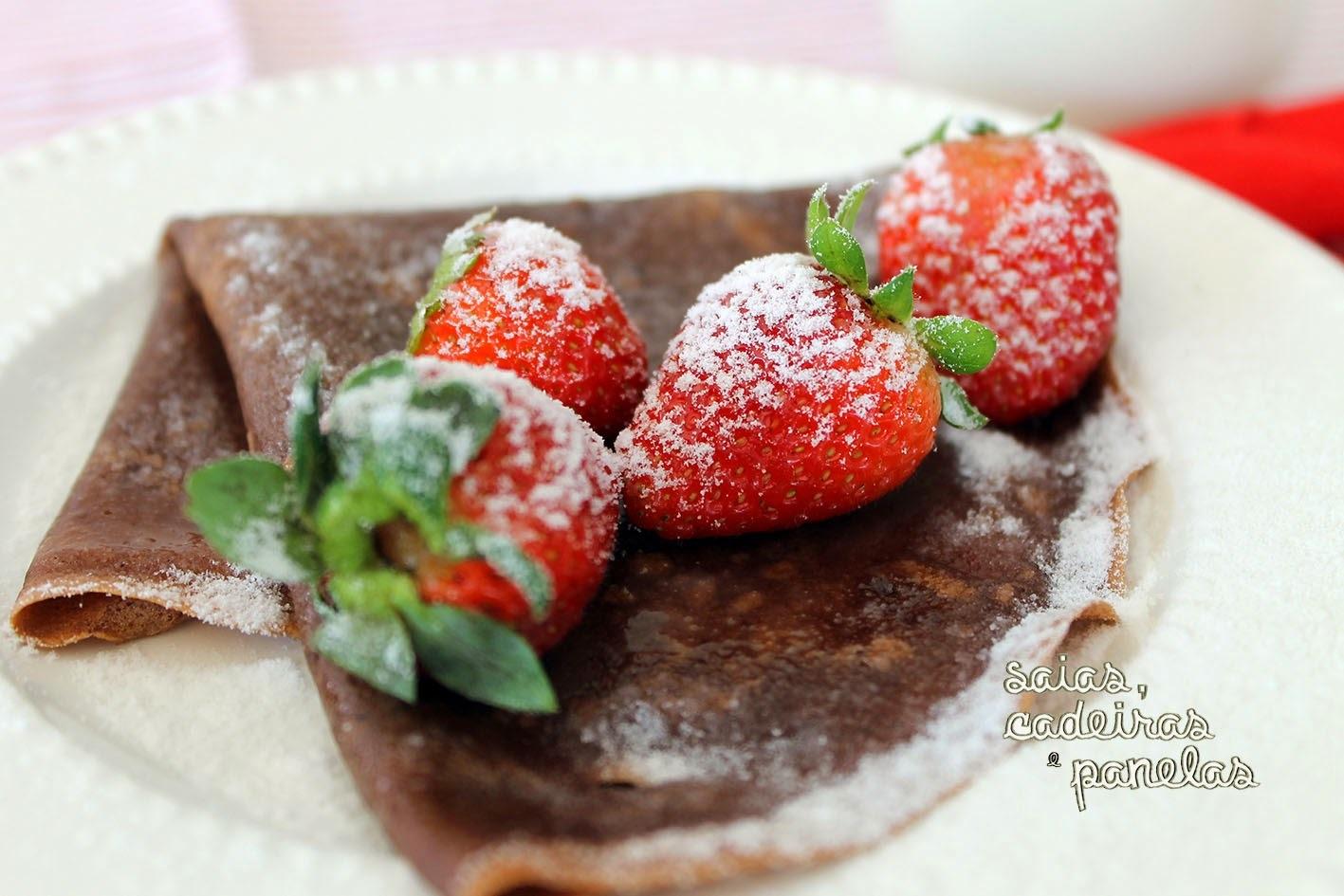 Panqueca de Chocolates Para Adoçar Seu Café da Manhã.